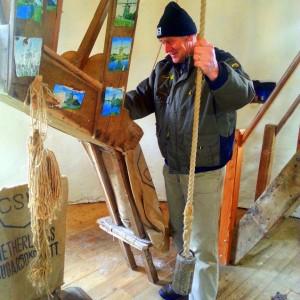 Vrijwillige molenaar Chris Venner