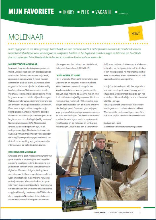 Nuël van den Hurck vertelt over zijn molenhobby.