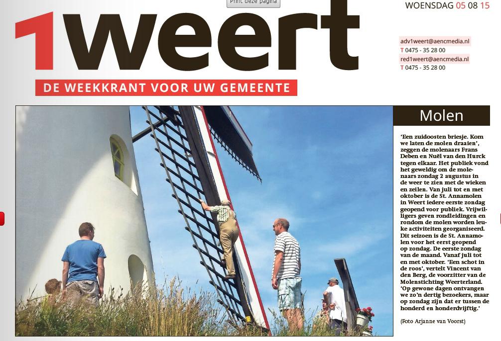1Weert d.d. 05/08/2015
