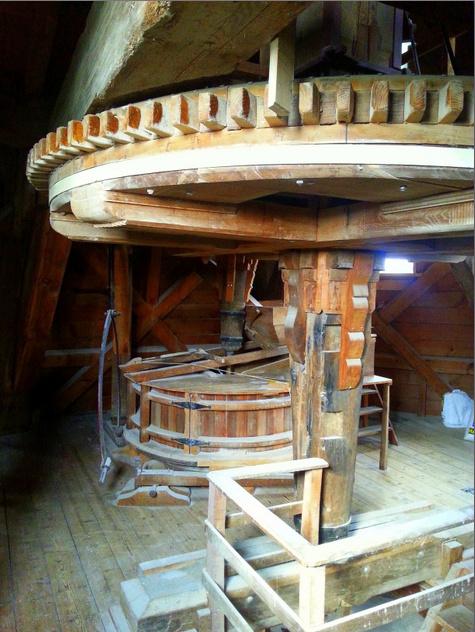 Interieur molen De Hoop, Swartbroek