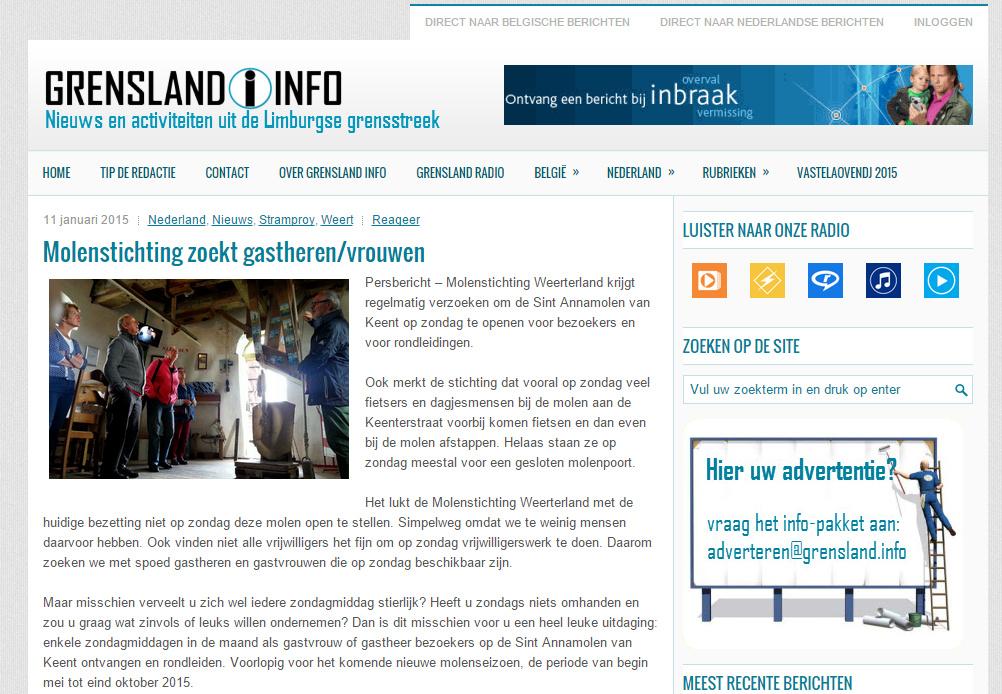 Grensland Info 10 januari 2015