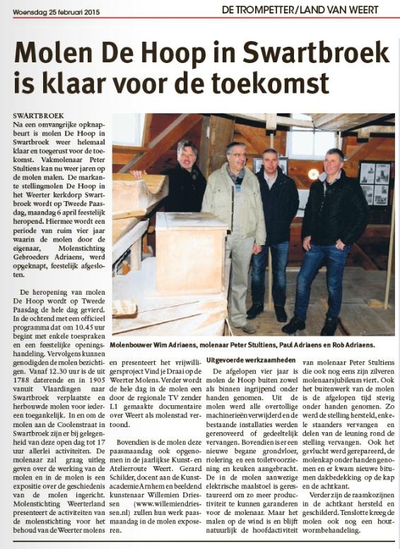Trompetter/Land van Weert, 25 februari 2015