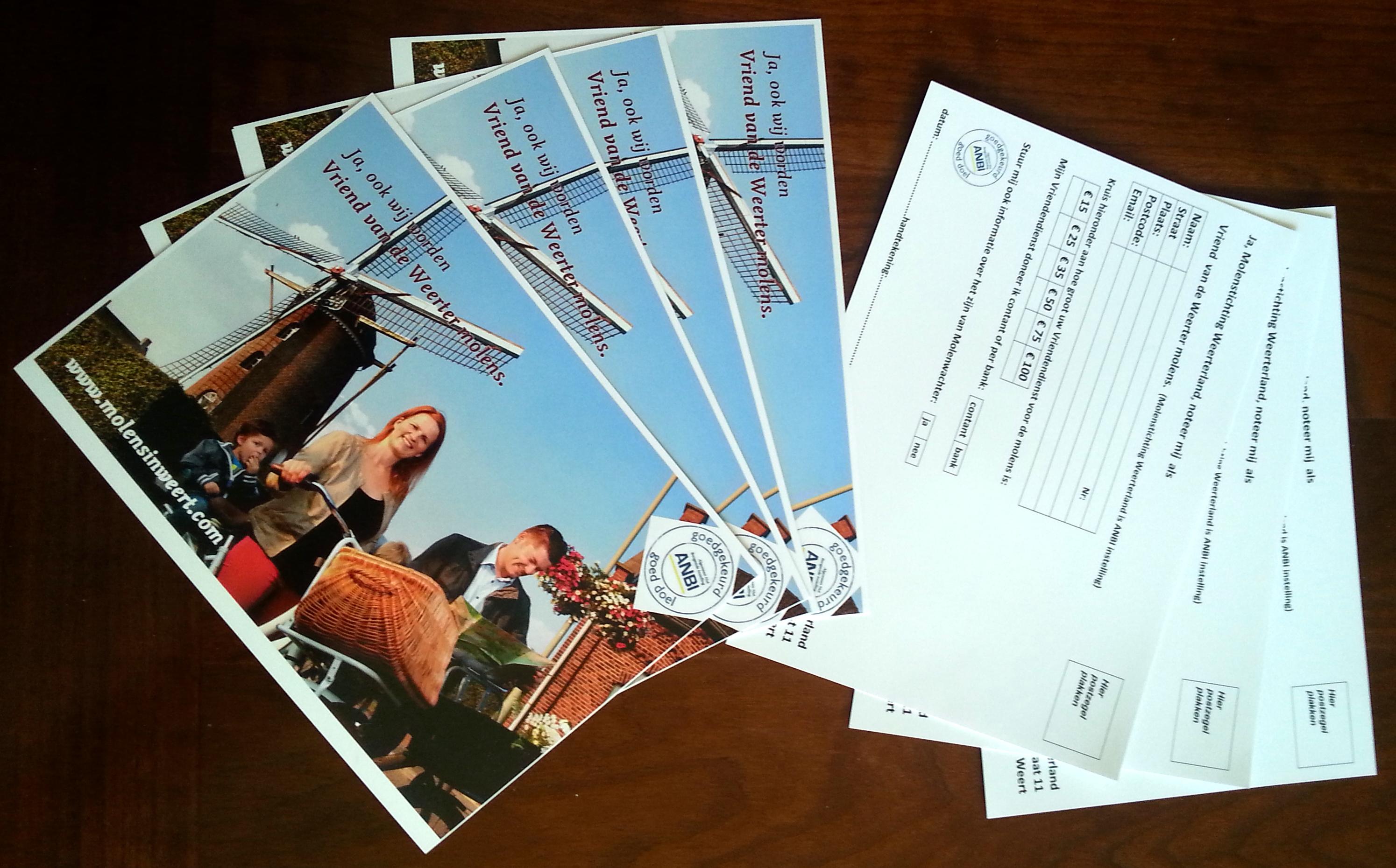 Briefkaartactie voor Molenvrienden