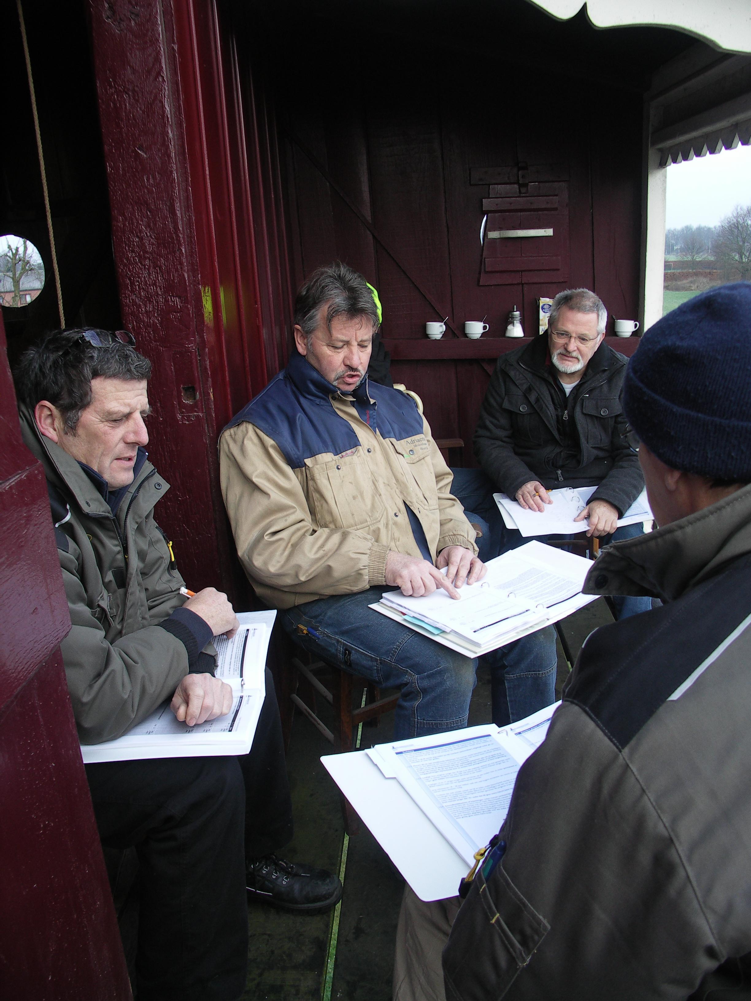 De projectgroep RI+E van Molenstichting Weerterland