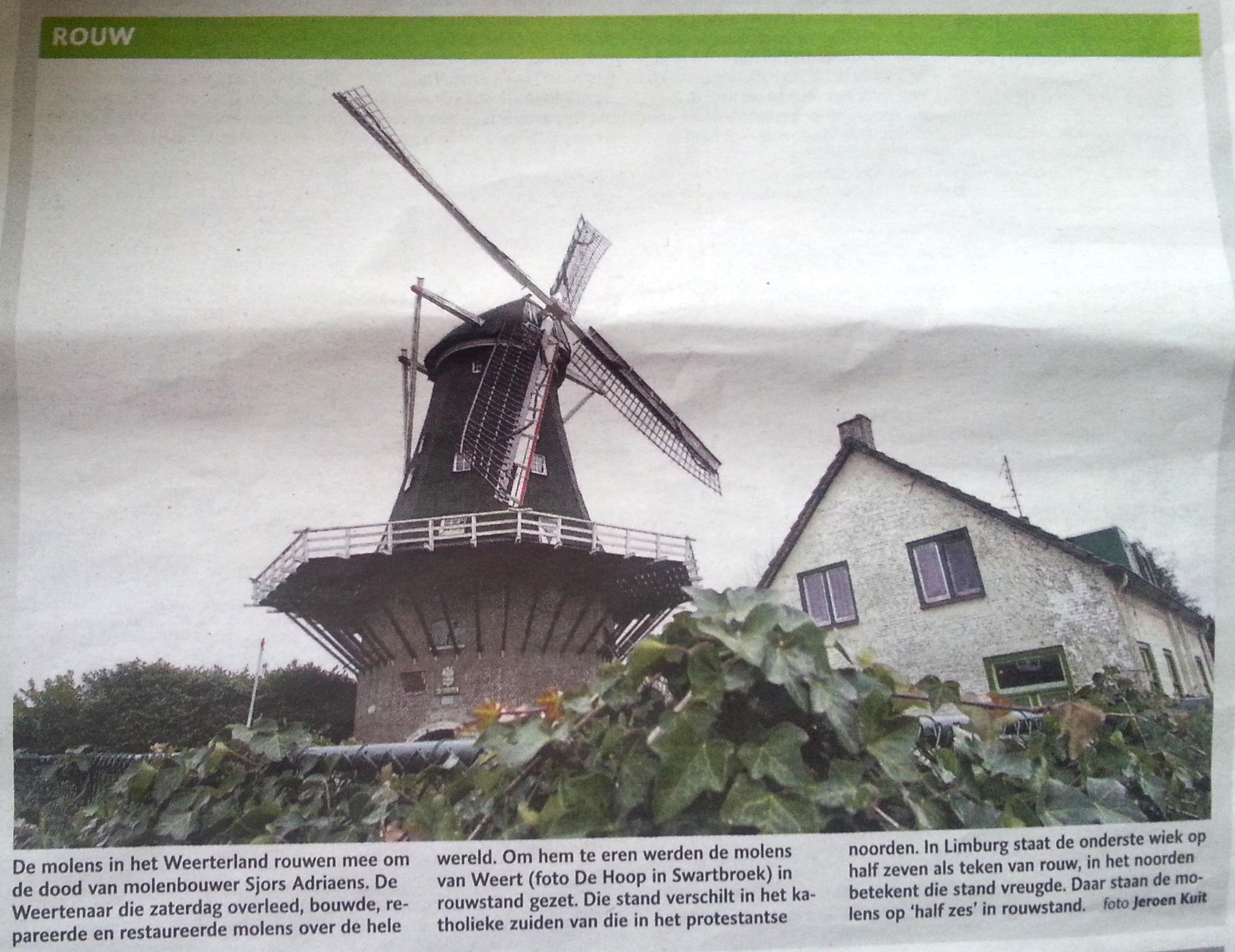 Dagblad De Limburger 11 februari 2015