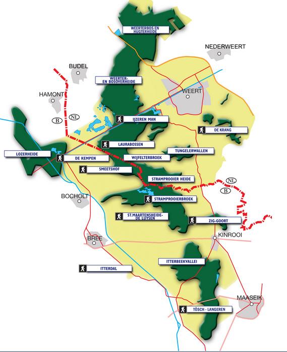 Het gebied van Kempen~Broek tussen Weert, Hamont, Bocholt, Bree en Maaseik