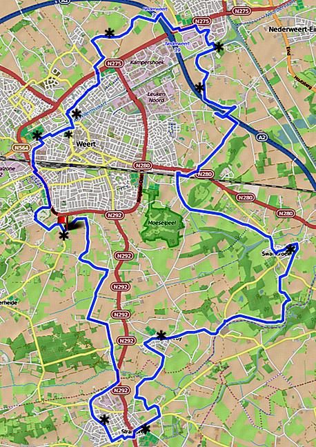 Fietsroute langs de molens in Weert (Nederweert) tijdens Limburgse molendag 2015