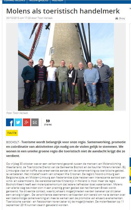 Artikel in Het Belang van Limburg