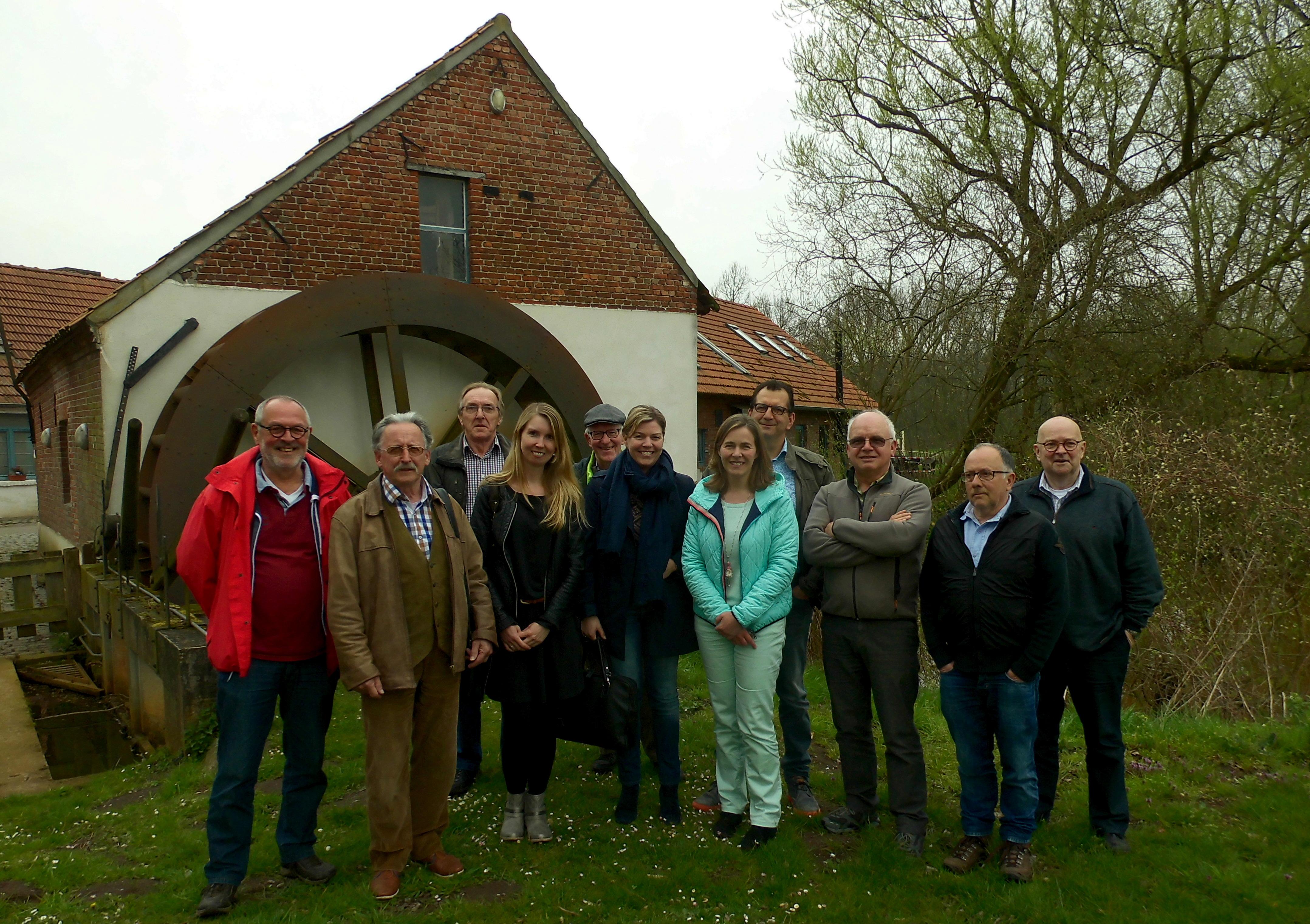 Deelnemers aan de projectgroep Molennetwerk Kempen~Broek
