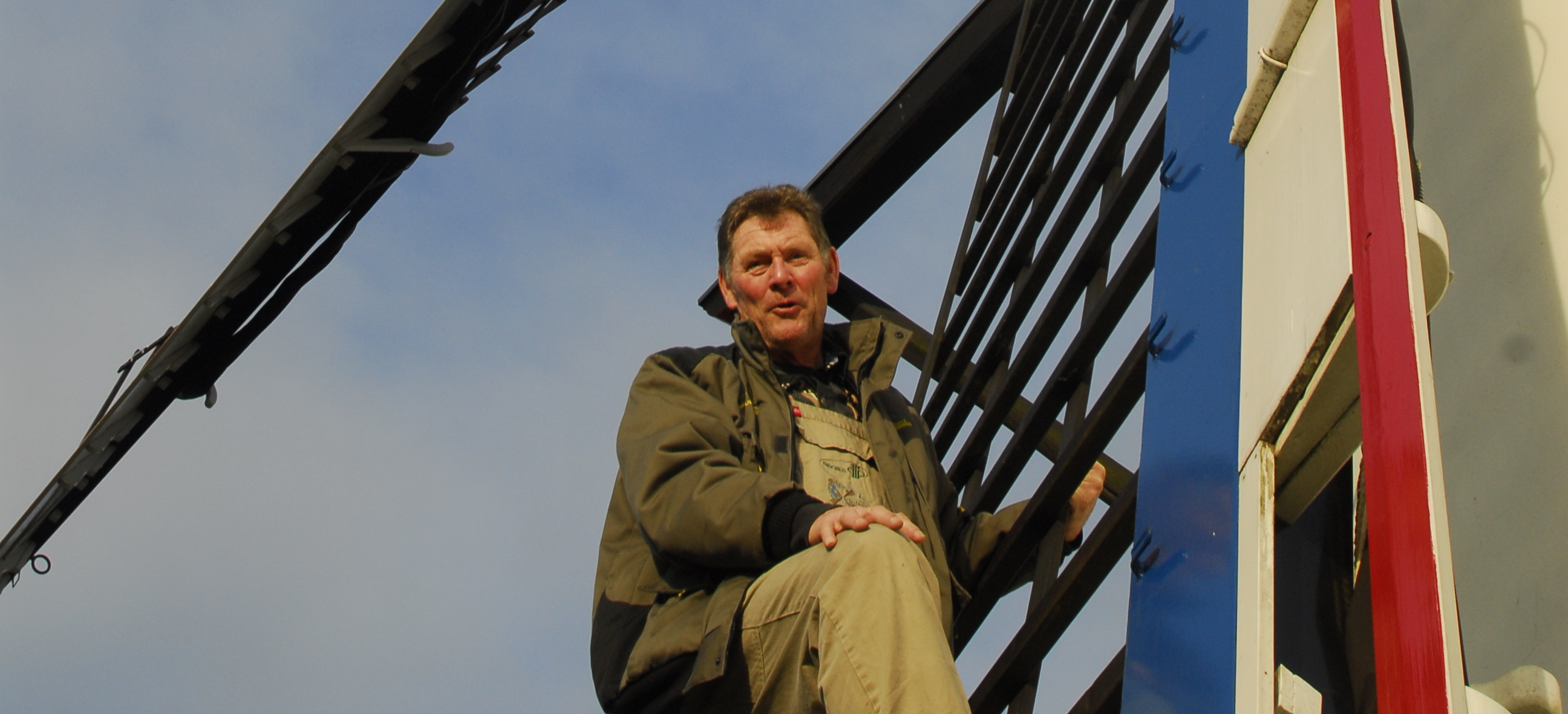 Vrijwillig molenaar Chris Venner.