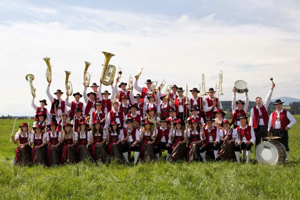 Musikkapelle Geisenried uit de Ostallgäu treedt zondag om 11 uur op bij de Wilhelmus Hubertusmolen aan de stadsbrug in Weert