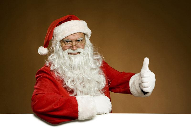 Ook de Kerstman is present bij de Sint Annamolen