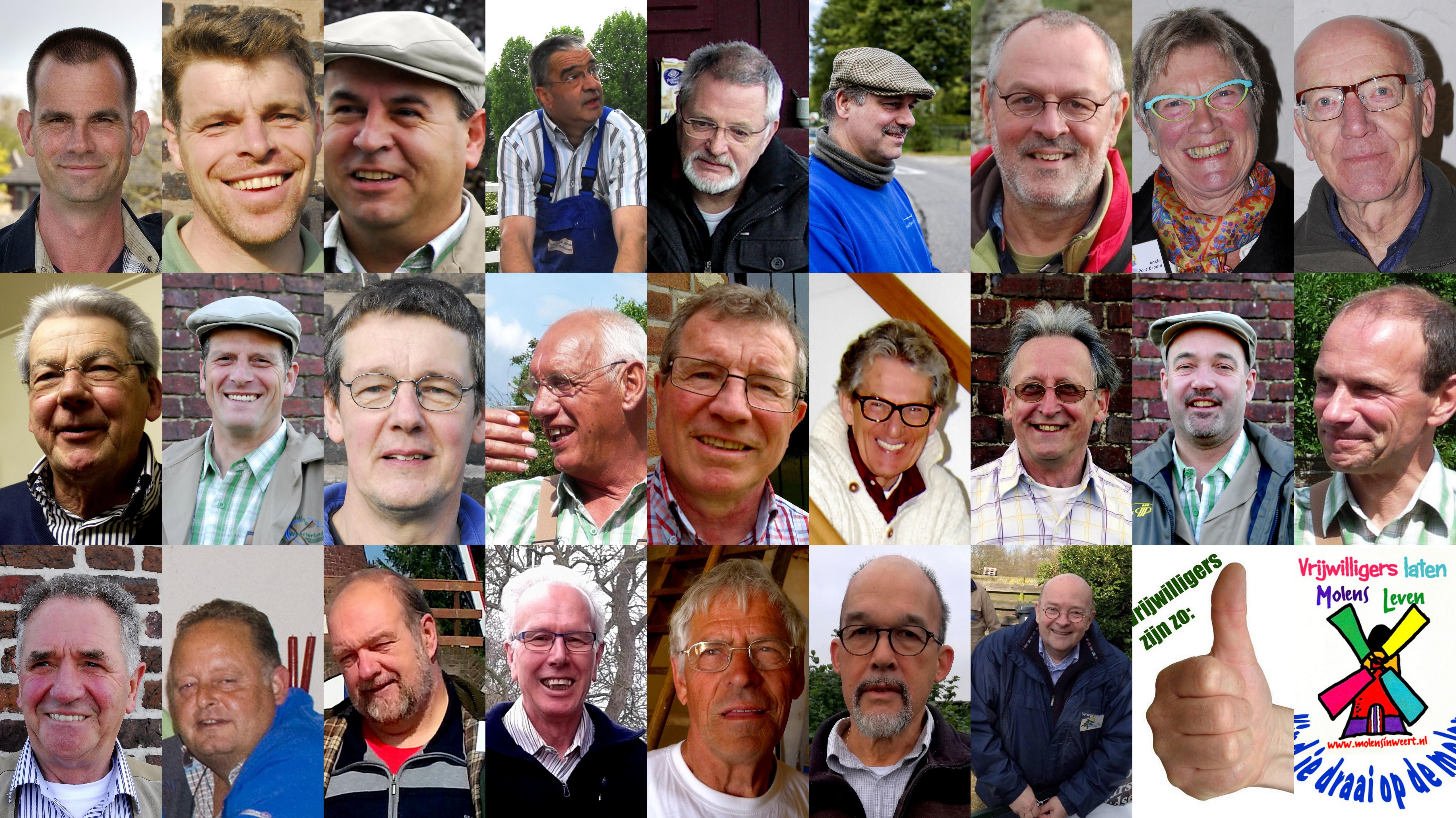 Vrijwilligers van de molenstichting Weerterland